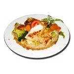 Csirkemellfilé lapcsánkával, grill zöldségekkel