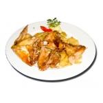 Sült csirkeszárny tallérburgonyával